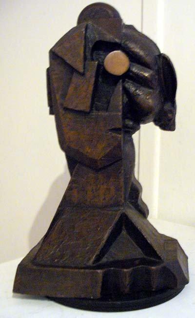 292: Italo Scanga, Cubist Rabbit, Bronze Sculpture
