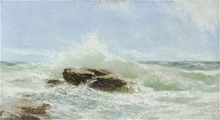 dipinto-marina con scogli