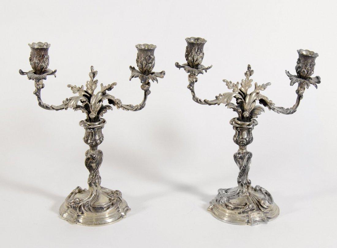 paio candelabri argento