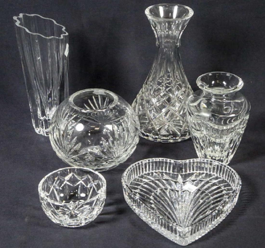 LOT OF SIX CUT GLASS PIECES