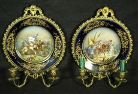 PAIR OF CHATEAU TUILERIES SEVRES SCONCES