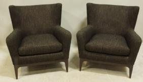 PAIR OF MID-CENTURY STYLE CLUB CHAIRS