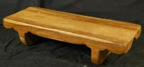 WOOD CARVED BENCH