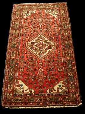 HAND KNOTTED PERSIAN WOOL RUNNER