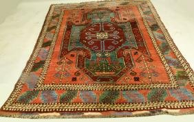 RUSSIAN CAUCASSION HAND WOVEN WOOL RUG