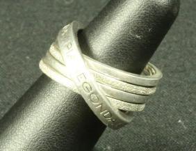 FIVE-BAND PIANEGONDA STERLING SILVER INFINITY RING