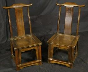 PAIR OF ANTIQUE CHINESE CHILD CHAIRS