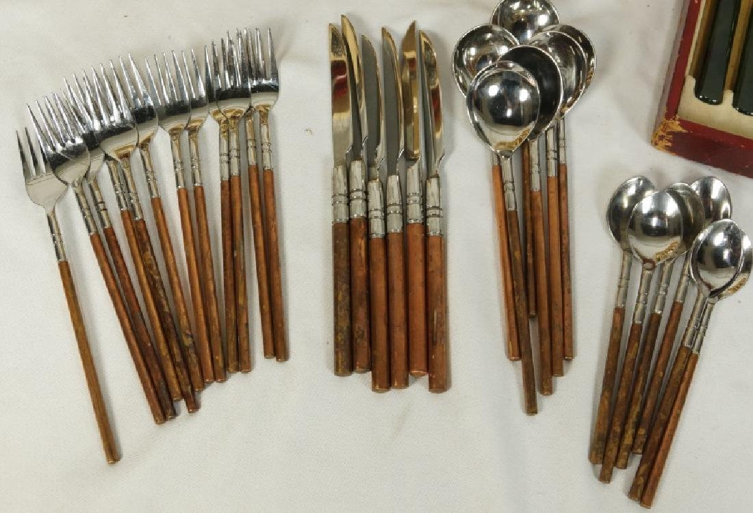 TWO MIXED LOTS OF FLATWARE