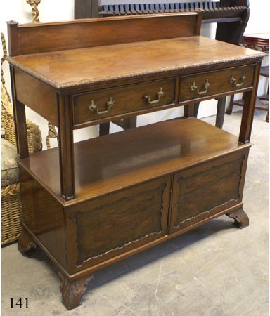 "316: Walnut sideboard by ""Waring and Gillow by ap"