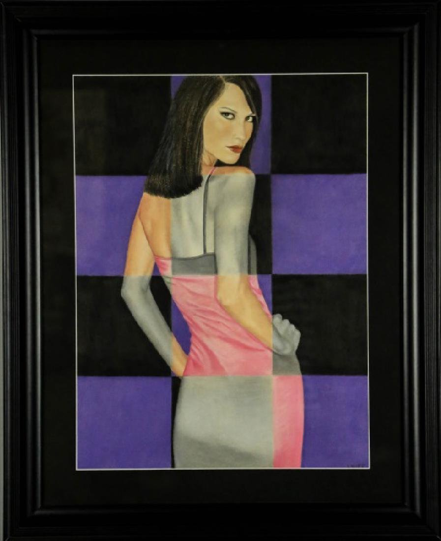 "LYNET McDONALD ""YOUR MOVE"" OIL PASTEL"