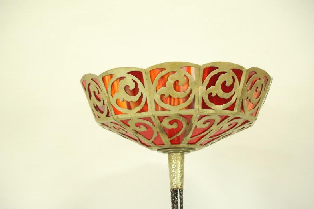 CIRCA 1940's FRENCH ART DECO FLOOR LAMP
