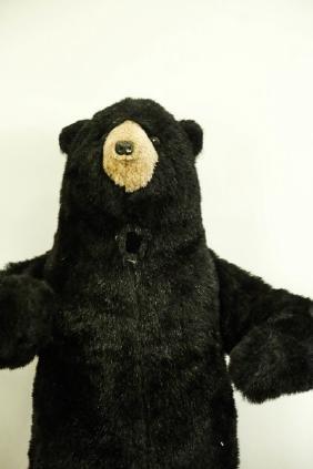 TOY STUFFED BLACK BEAR