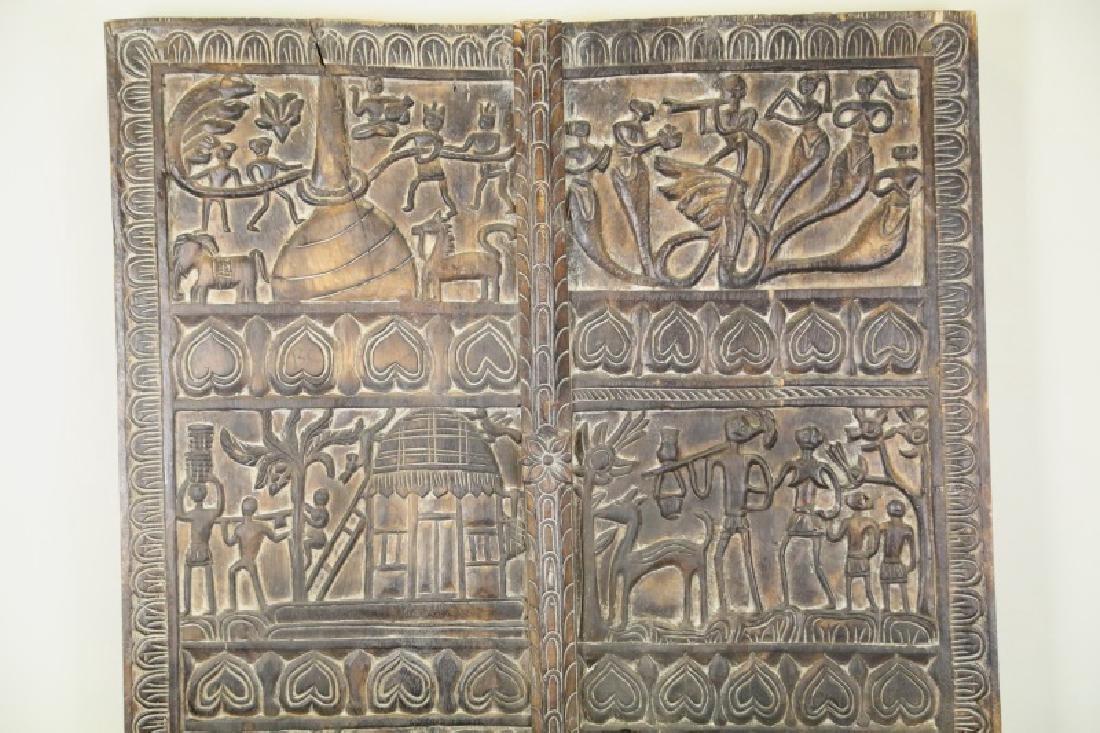CARVED INDIAN WOOD DOOR