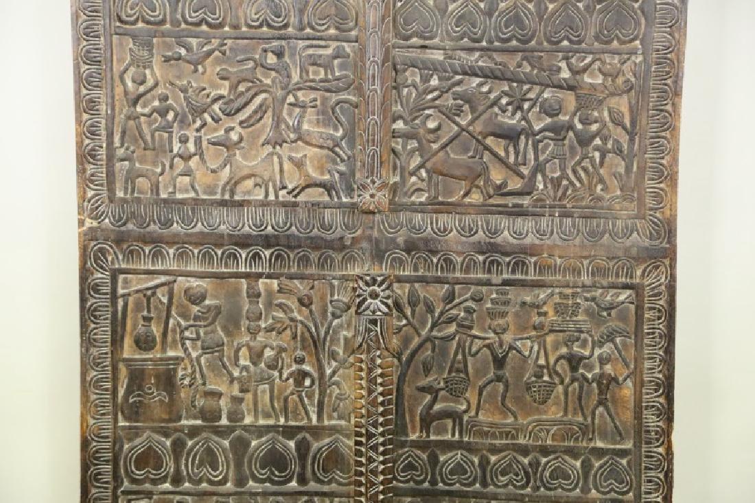 CARVED INDIAN WOOD DOOR - 2