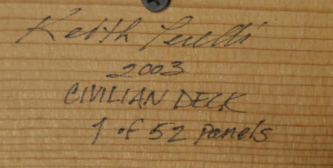 "KEITH PERELLI ""CIVILIAN DECK "" OIL ON PANEL - 3"