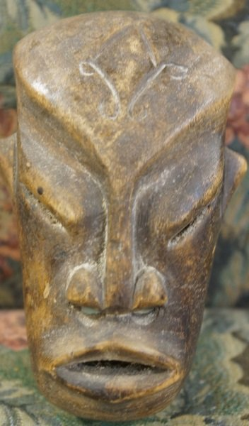 MIXED LOT OF FOUR WOOD CARVED MASKS - 3