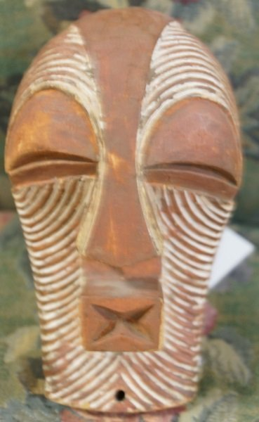 MIXED LOT OF FOUR WOOD CARVED MASKS - 4