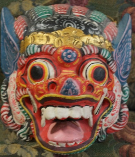 MIXED LOT OF FOUR WOOD CARVED MASKS - 5
