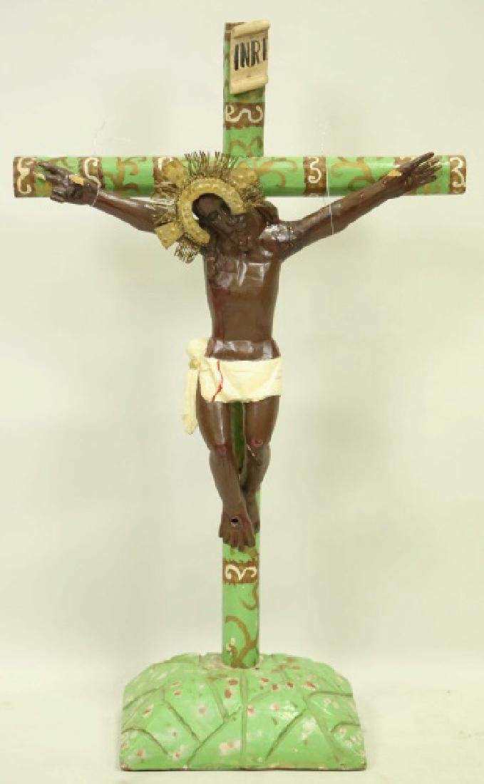19th CENTURY SPANISH COLONIAL CRUCIFIX