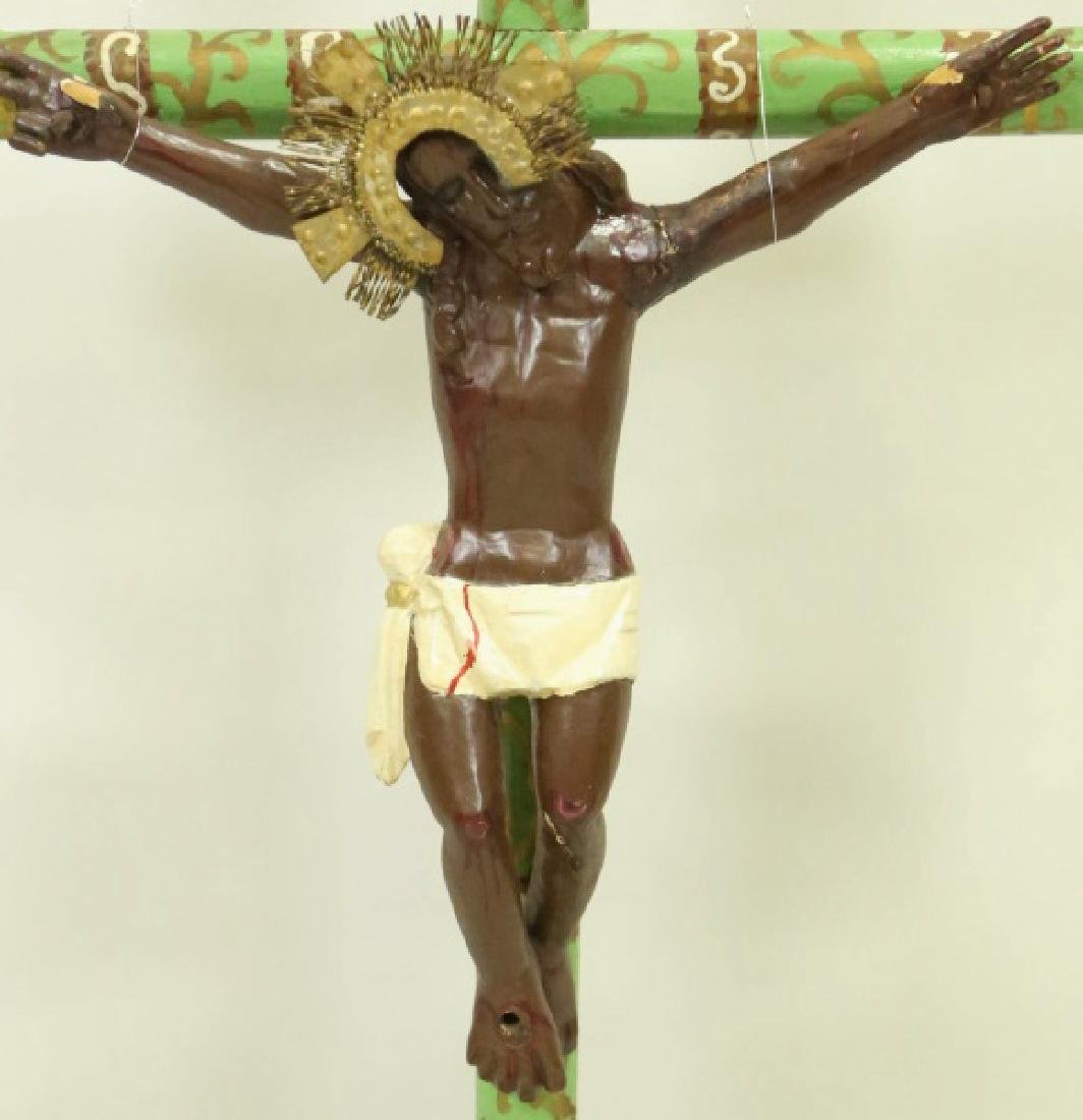 19th CENTURY SPANISH COLONIAL CRUCIFIX - 2