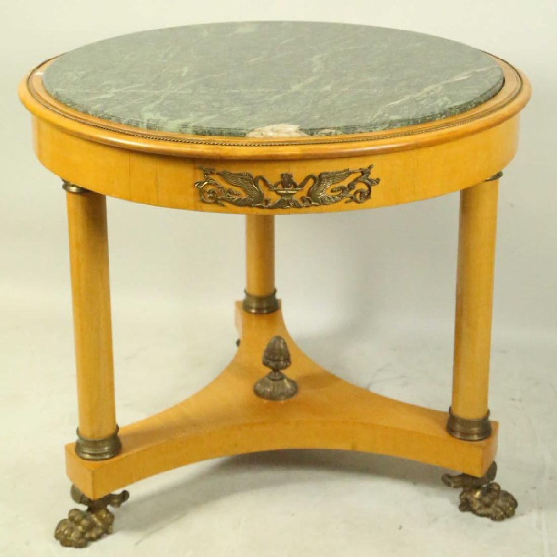 EMPIRE STYLE MARBLE TOP CENTER TABLE