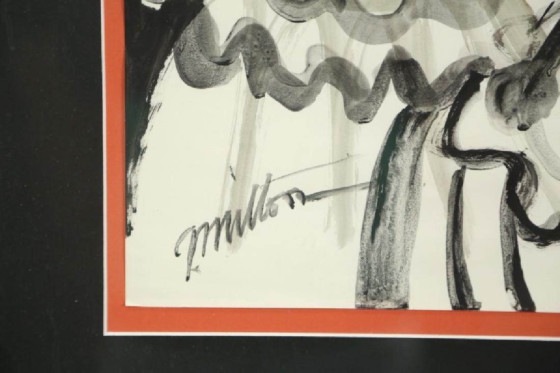 "GEORGE MILTON ""CLOWN PORTRAIT"" ORIGINAL INK & W/C - 3"