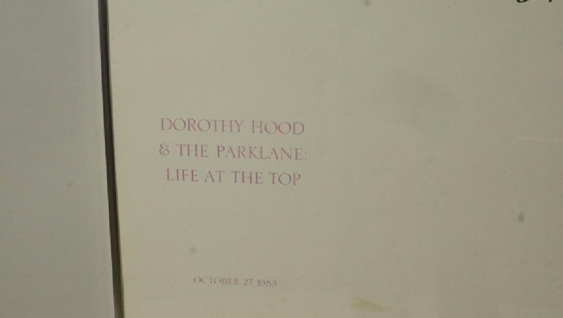 SIGNED DORTHY HOOD ART GALLERY POSTER - 4