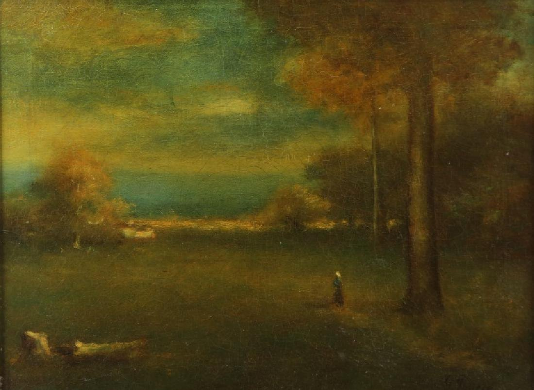 "GEORGE INNESS ""SUNSET LANDSCAPE IN MONTCLAIR, NJ"""