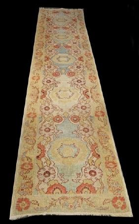 Hand Knotted Persian Oushak Runner
