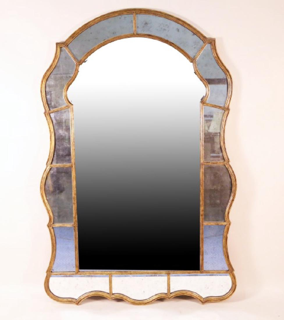 THIRTEEN UPPER & LOWER SURROUNDING BEVELED MIRROR