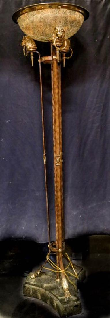 TORCHIERE FLOOR LAMP WITH LION PAW BASE