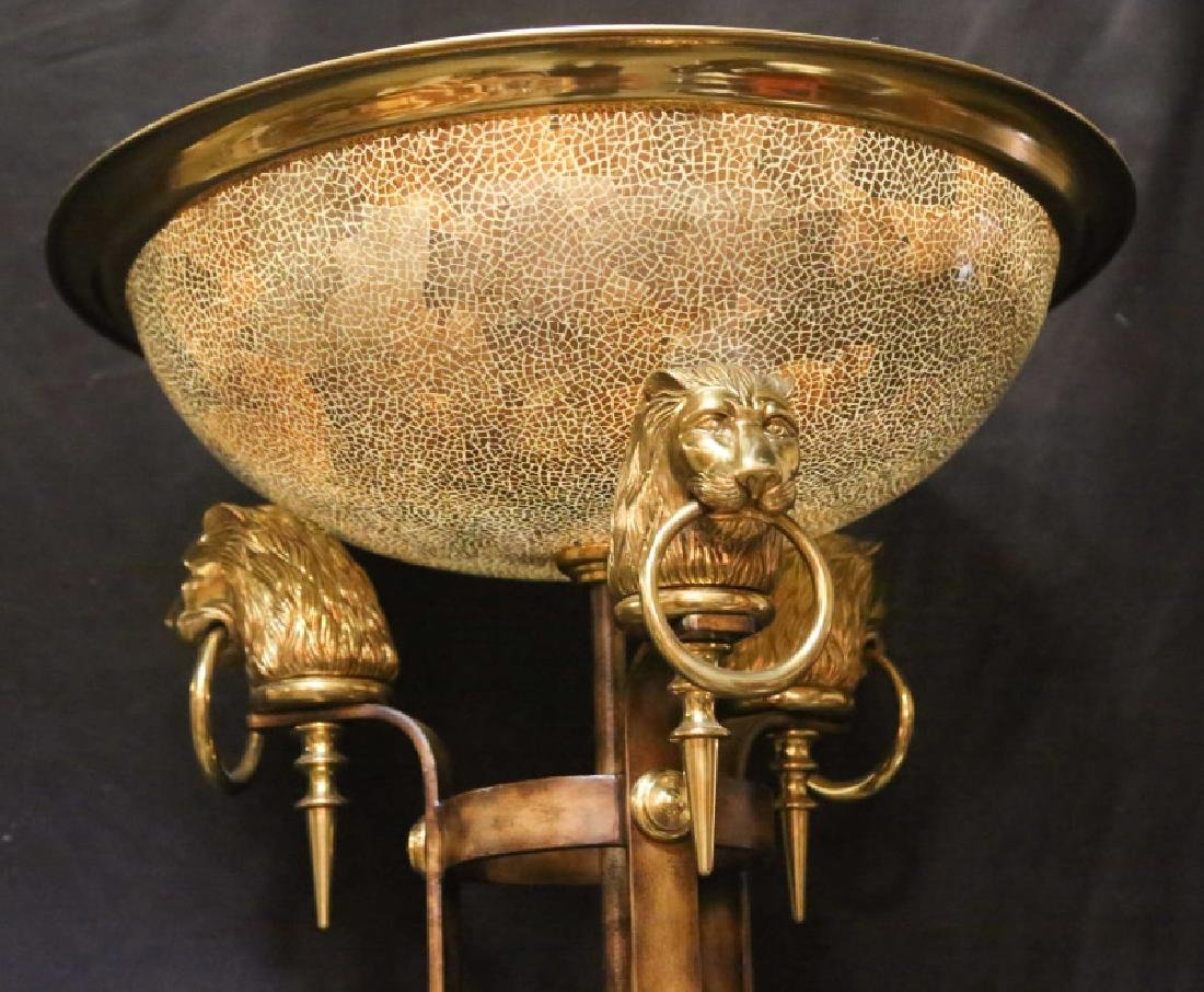 TORCHIERE FLOOR LAMP WITH LION PAW BASE - 2