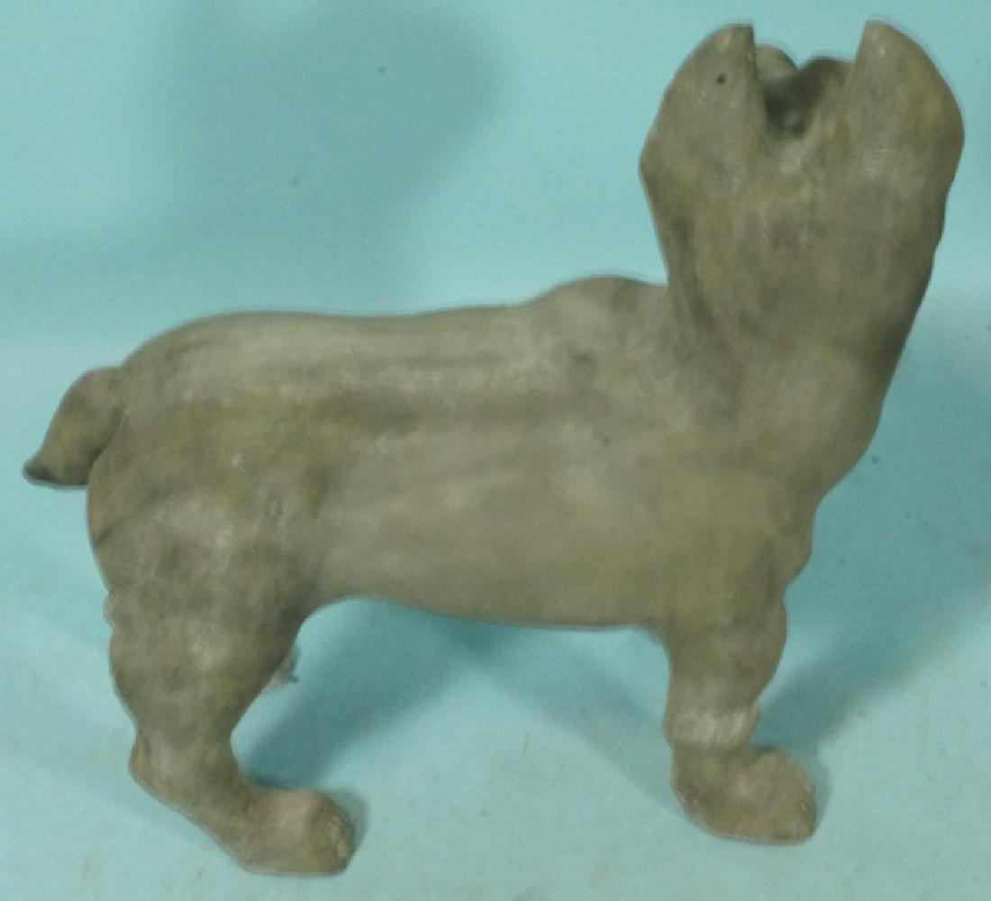 WOOD CARVED STANDING TERRIER - 2