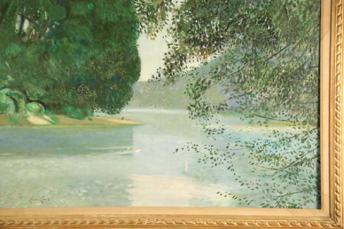 """RENE GENIS """"FEUILLAGES ET RIVIERE"""" OIL ON CANVAS - 2"""