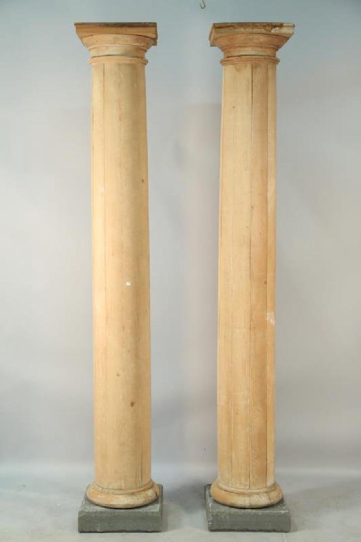 PAIR OF ANTIQUE DORIC PINE COLUMNS
