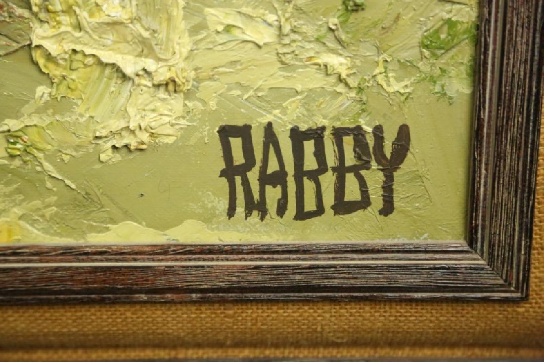 """JIM RABBY """"EAST TEXAS LANDSCAPE"""" OIL ON CANVAS - 4"""