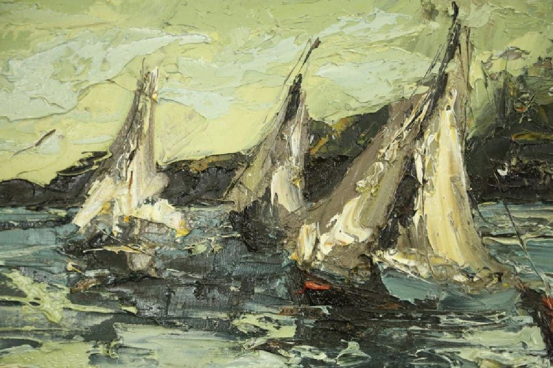 """JIM RABBY """"SAILBOATS"""" OIL ON CANVAS, 1973 - 3"""