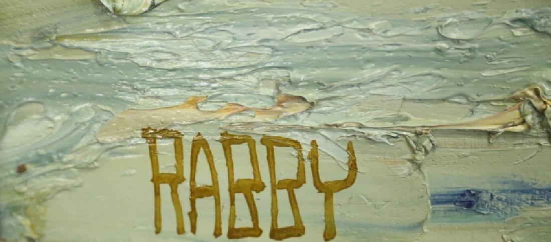 """JIM RABBY """"SAILBOATS"""" OIL ON CANVAS, 1973 - 4"""
