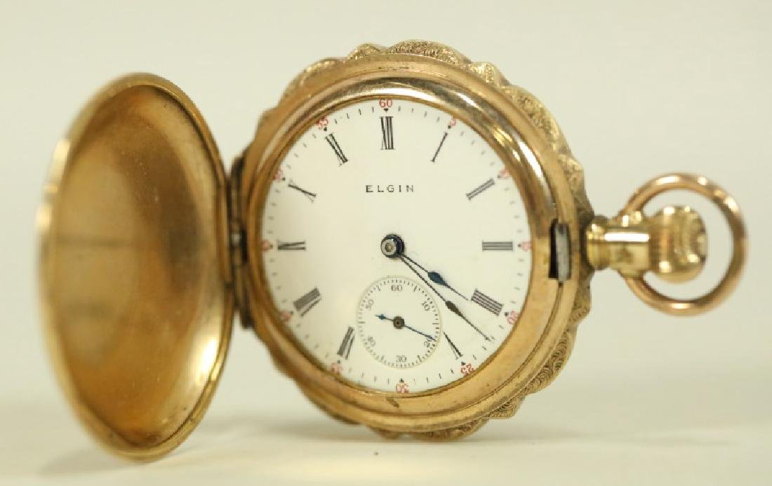 14KT GOLD VINTAGE LADIES ELGIN POCKET WATCH