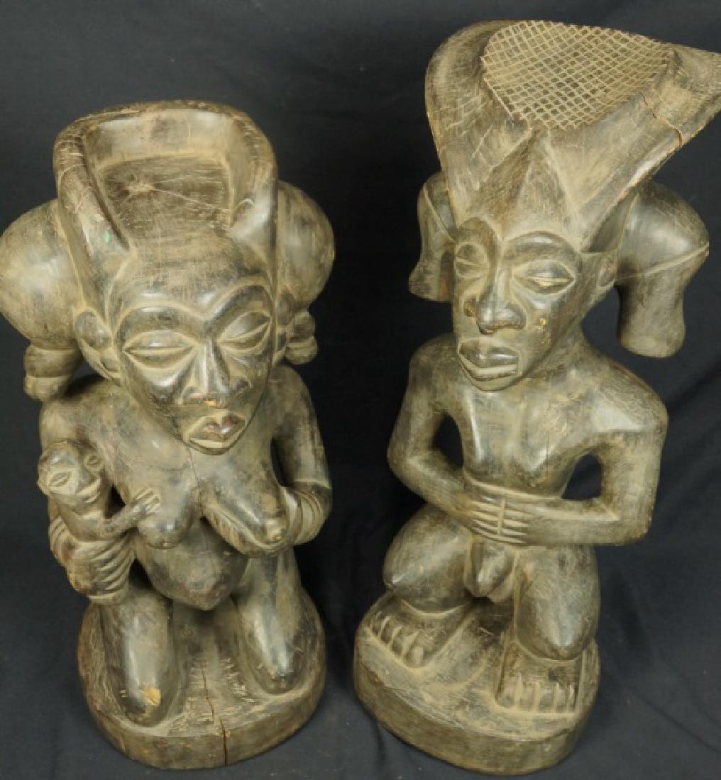 PAIR OF CHOKWE SCULPTURES CHIBINDA ILUNGA & LWEJI - 2