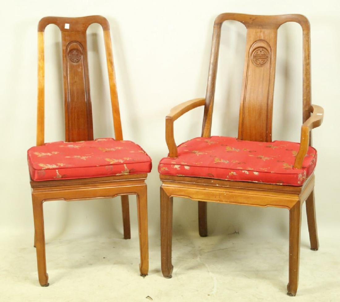SET OF EIGHT CHINESE ROSEWOOD DINING CHAIRS