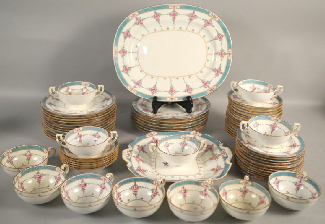LOT OF 66-PIECES OF MINTON RYRIE BRO. DINNERWARE