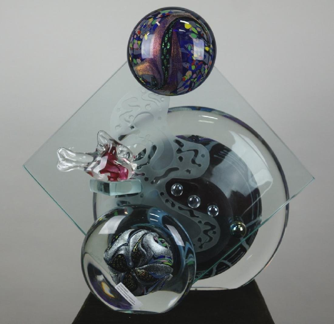 CONTEMPORARY ROLLIN KARG ART GLASS SCULPTURE