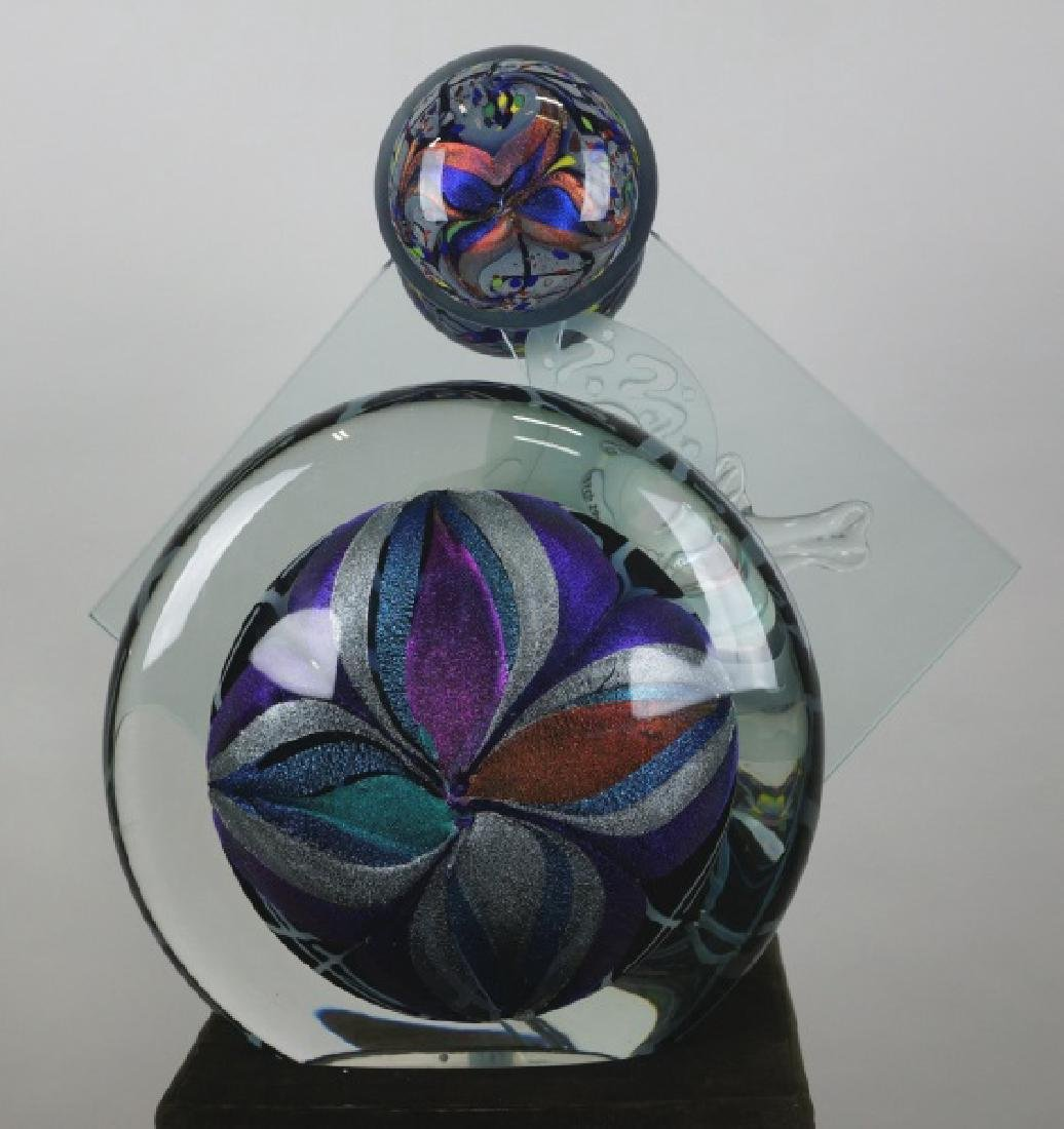 CONTEMPORARY ROLLIN KARG ART GLASS SCULPTURE - 2