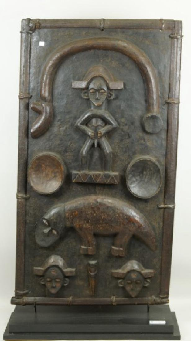 20th CENTURY BAULE PEOPLES IVORY COAST DOOR