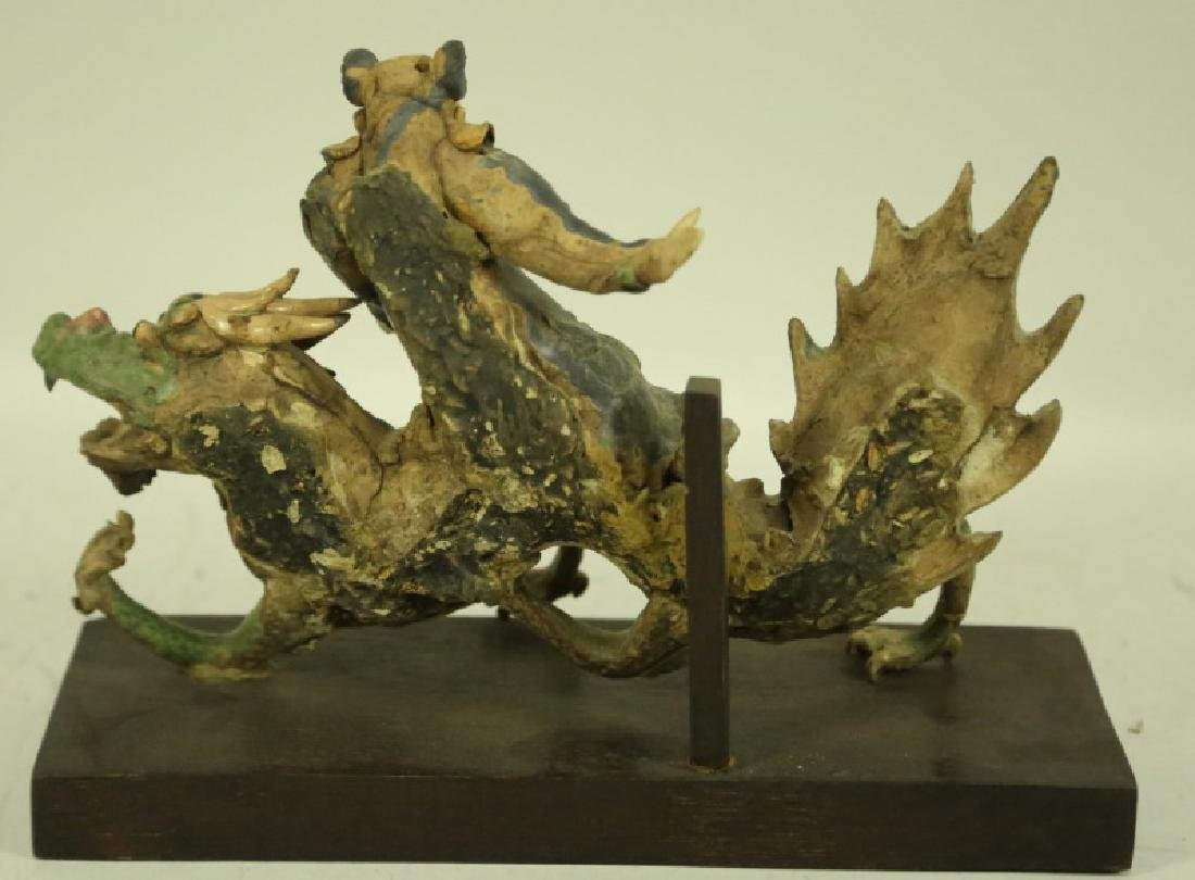 19th CENTURY CHINESE FIGURAL ROOF TILE - 2