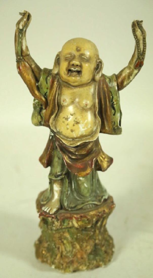 ANTIQUE CHINESE PORCELAIN BUDDHA FIGURE