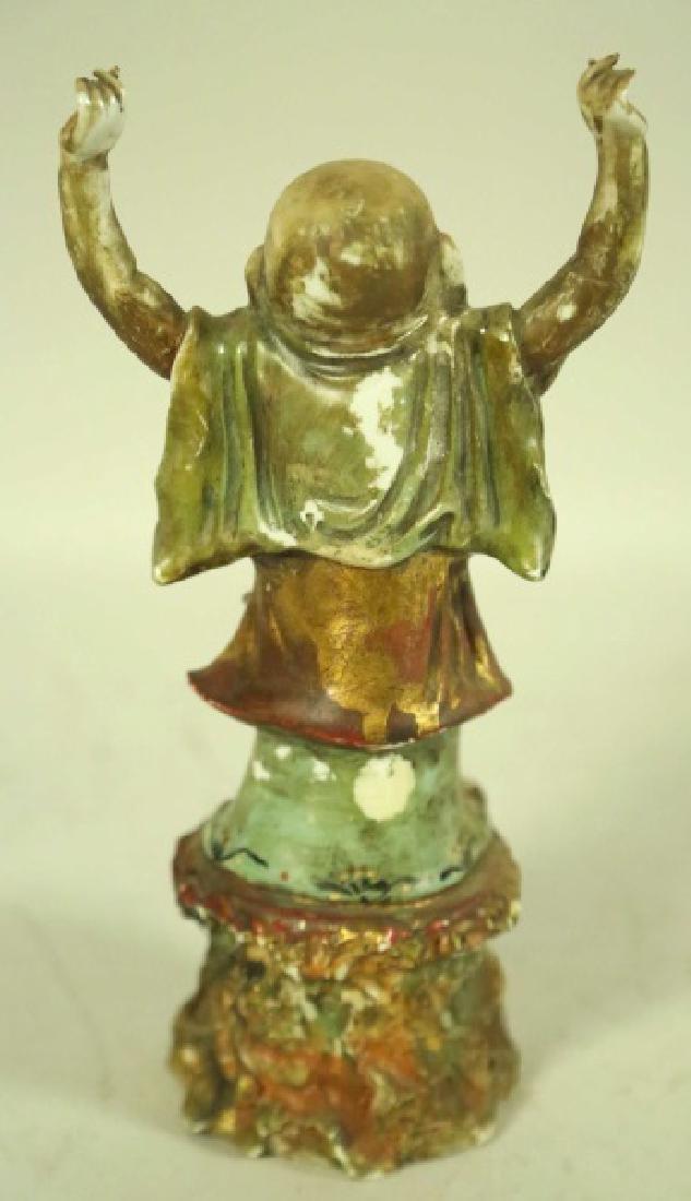 ANTIQUE CHINESE PORCELAIN BUDDHA FIGURE - 2