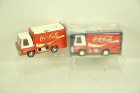 LOT OF 2 VINTAGE COCA-COLA TRUCKS