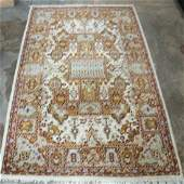 VINTAGE PERSIAN HAND KNOTTED SILKWOOL RUG